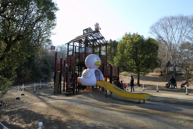埼玉こども動物自然公園のアスレチック